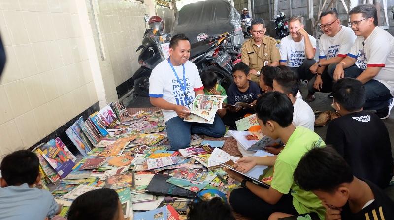 Kampung Cerdik didirikan sebagai bentuk tanggung jawab perusahaan dengan memberdayakan masyarakat untuk memberikan kehidupan yang lebih baik secara berkelanjutan - melalui program CR Week 2018.(Lukman Hqeem)