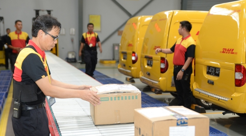 DHL Express Indonesia hari ini meresmikan fasiltas layanan di Pulo Gadung, Jakarta Utara. (Lukman Hqeem)