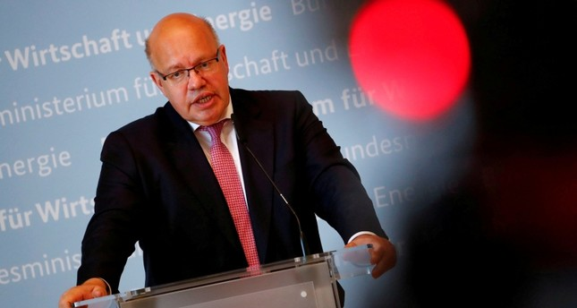 Menteri Ekonomi Jerman Peter Altmaier, mengkritik kebijakan tarif Donald Trump. (Lukman Hqeem)