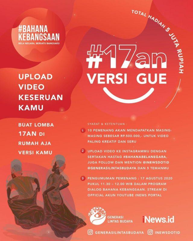 Generasi Lintas Budaya, iNews.id & Parfi'56 Gelar Gerakan #BAHANAKEBANGSAAN KENDURI RAYA 75 INDONESIA 1
