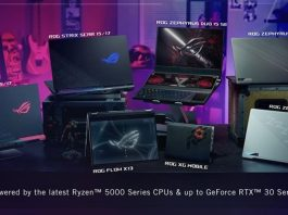 ASUS mengumumkan jajaran laptop gaming ROG terbaru di ajang CES 2021