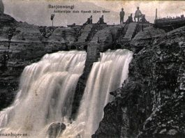 Bendungan Kawah Ijen 1910an - Kartupos koleksi Lukman Hqeem