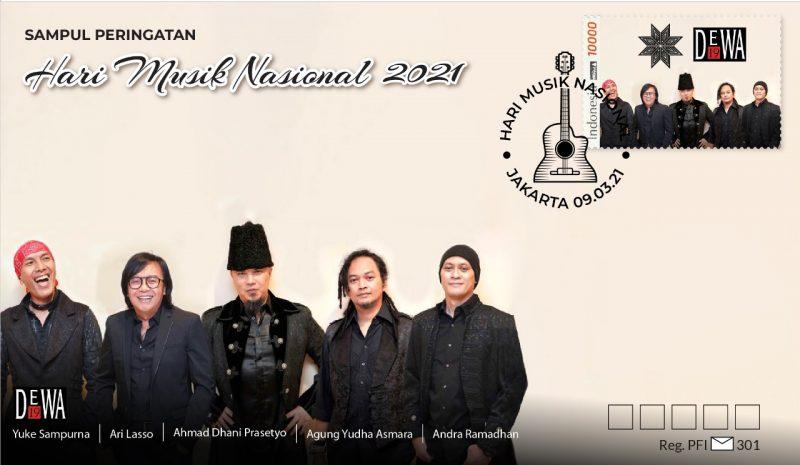 Peringati Hari Musik Nasional, PFI Luncurkan Sampul Berprangko DEWA 19 1